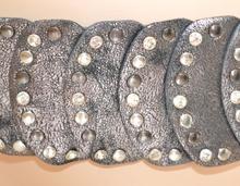 CINTURA ARGENTO donna stringivita  bustino elastica pelle da cerimonia ELEGANTE belt 380