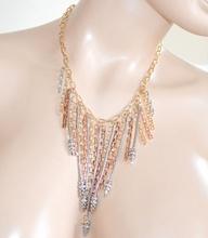 COLLANA ARGENTO ORO ROSA strass collarino collier donna girocollo elegante da cerimonia Z16