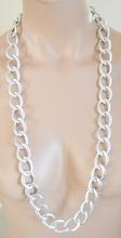 COLLANA CATENA donna argento oro DIAMANTATA Anelli satinati A04