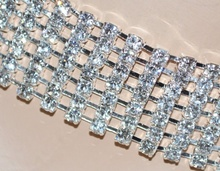 COLLANA donna COLLARINO elegante argento GIROCOLLO cristalli CERIMONIA SPOSA 8F