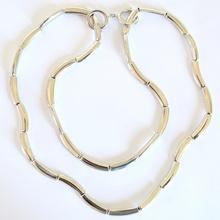 COLLANA donna LUNGA\GIROCOLLO\BRACCIALE Argento collar metallo acciaio lucido sexy A30