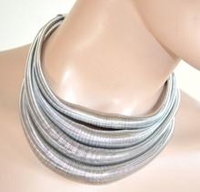 COLLANA girocollo ARGENTO COLLARINO donna SEXY elegante necklace 645