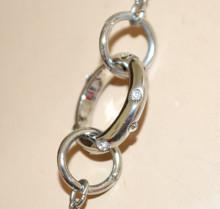 COLLANA LUNGA donna argento ciondoli charms anelli oro rosa girocollo laccio catenina N60