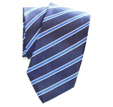 CRAVATTA BLU uomo classica raso a righe ELEGANTE da cerimonia Tie Cravate Lazo Laço 20