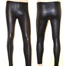 LEGGINGS donna leggins pantaloni pelle nera pantacollant fuseaux