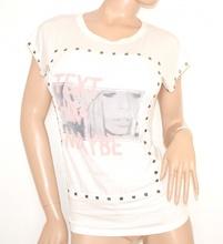 MAGLIETTA BIANCA t-shirt donna manica corta maglietta sottogiacca viscosa 55X