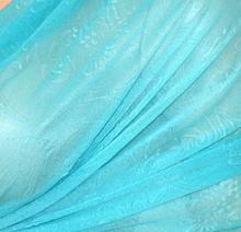 MAXI STOLA donna elegante FOULARD coprispalle seta AZZURRO velato da cerimonia 35X