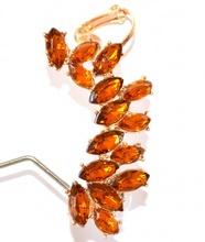 MONO ORECCHINO donna ragazza oro ambra cristalli bigiotteria idea regalo F280
