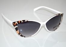 OCCHIALI da SOLE bianco marrone nero donna maculate leopardate lenti gafas G6