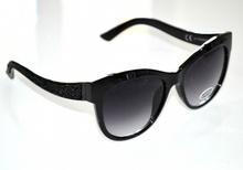 OCCHIALI da SOLE donna NERI strass lenti ovali strass brillantini luccicanti sunglasses G1