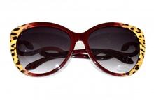 OCCHIALI da sole donna rosso bordeaux oro maculati lenti ovali serpente leopardati F10
