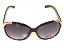 OCCHIALI da SOLE NERI donna profili oro dorati lenti ovali black sunglasses G18