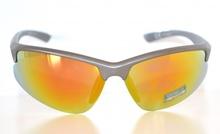 Occhiali uomo da sole grigio argento lenti a specchio gialle a mascherina sportive sunglasses Z3