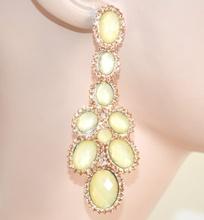 ORECCHINI donna argento beige corallo cristalli strass pendenti damigella F140