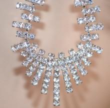 ORECCHINI donna ARGENTO pendenti ovali strass cristalli brillanti cerimonia sposa earrings PX8