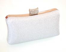 POCHETTE ARGENTO borsello donna elegante borsetta cerimonia borsa clutch E160
