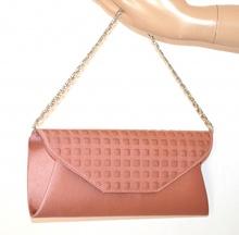 POCHETTE donna ROSA borsello raso elegante borsa cerimonia damigella bag sac A24