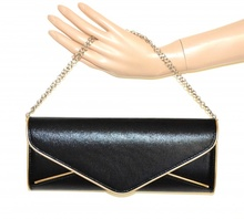POCHETTE ORO NERA donna dorata borsello borsa elegante da sera bag sac bolsa A44