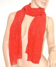 SCIARPA ROSSA donna BRILLANTINATA foulard scialle pashmina scaldacollo scarf da sera écharpe шарф 5