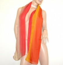 STOLA beige fucsia rossa gialla donna maxi foulard coprispalle velato sciarpa scialle B5