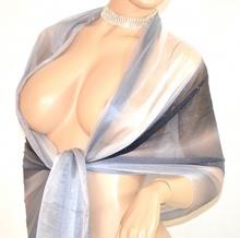 ... STOLA BIANCA NERA GRIGIO donna elegante seta MAXI FOULARD coprispalle  da sera cerimonia E45. prev. next. prev 7adba1be568
