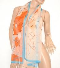 STOLA donna beige corallo azzurro seta FOULARD coprispalle VELATO da cerimonia x abito elegante scarf 160