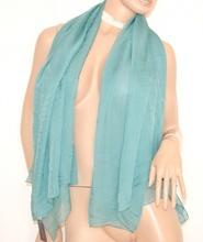 STOLA donna VERDE foulard DA CERIMONIA scialle COPRISPALLE SETA elegante 99X