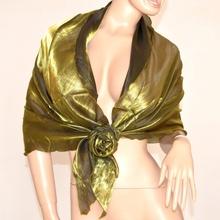 Stola elegante maxi foulard donna coprispalle x abito vestito da sera cerimonia ondulata metallizzata F5