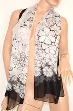 ... Stola foulard coprispalle donna velata cerimonia x abito da sera  elegante bianco nero fantasia floreale x vestito 130F. prev. next. prev 75d50e44da6