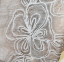STOLA GRIGIO foulard 30% SETA maxi scialle ricamato coprispalle sciarpa elegante G45