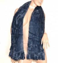 STOLA GRIGIO PELLICCIA eco donna scialle coprispalle sciarpa elegante cerimonia grauer Schal G3