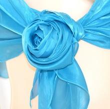STOLA MAXI donna AZZURRO TURCHESE coprispalle elegante foulard cerimonia x abito da sera metallizzato F5