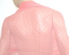 STOLA maxi donna ROSA foulard 70%SETA velato coprispalle damigella elegante da cerimonia  H35
