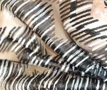 STOLA NERA BIANCA foulard 20%SETA donna coprispalle scialle velato trasparente sciarpa cerimonia G60