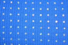 Top canotta donna maglietta maglia canottiera sottogiacca sport borchie chiodini strass blu 16