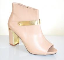 TRONCHETTI BEIGE donna scarpe decolte stivaletti tacco oro alto eleganti E15