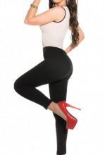 TUTA BEIGE NERA donna pantalone top canotta jumpsuit overall abito tutina zip vestito A48