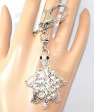 PORTACHIAVI CUORE ciondolo argento donna tartarughina ragazza idea regalo A4