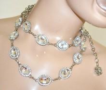 CINTURA gioiello argento donna cristalli strass metallo stringivita cerimonia sposa BB6