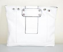 BORSELLO BIANCO  pochette a mano donna borsa da sera pelle tracolla clutch E185