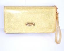 BORSELLO PORTAFOGLIO ORO donna Mini Pochette dorata CLUTCH Borsellino da Borsa 910B