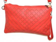 BORSELLO ROSSO borsa borsetta donna chiodini grigio borsetta eco pelle tracolla sac bag A22