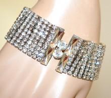 BRACCIALE ARGENTO donna strass cristalli sposa cerimonia silver bracelet BB8