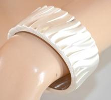 BRACCIALE donna rigido a schiava ARGENTO PLATINO metallo pulsera bracelet  браслет 710