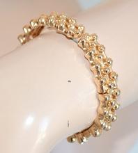 BRACCIALE donna rigido colore oro\dorato con strass\brillanti elegante da CERIMONIA chic bracelet 277