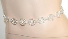CINTURA argento platino donna strass cristalli metallo sposa cerimonia belt A42