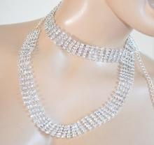 CINTURA gioiello donna STRASS ARGENTO cristalli sposa damigella elegante da cerimonia CX5