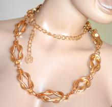 CINTURA ORO gioiello donna stringivita dorato metallo lucido catena elegante gold belt G67
