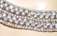 COLLANA ARGENTO girocollo collarino donna strass collier cristalli rigido colletto G60