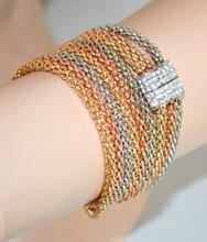 COLLANA ARGENTO ORO ROSA donna girocollo bracciale dorata strass magnete collier A77